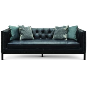 Mid Century Modern Leather sofa Fantastic Mid Century Modern Slate Black Leather sofa St James Wallpaper
