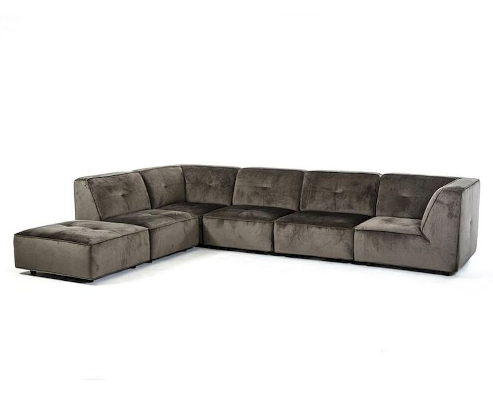 modern grey fabric sectional sofa online-Superb Grey Fabric Sectional sofa Concept