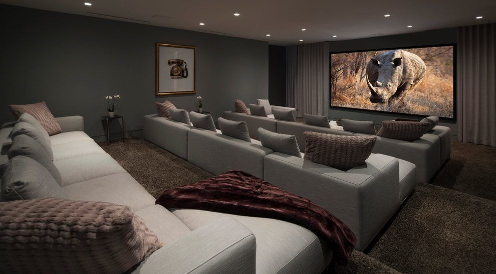 modern home theater sofa picture-Stylish Home theater sofa Design