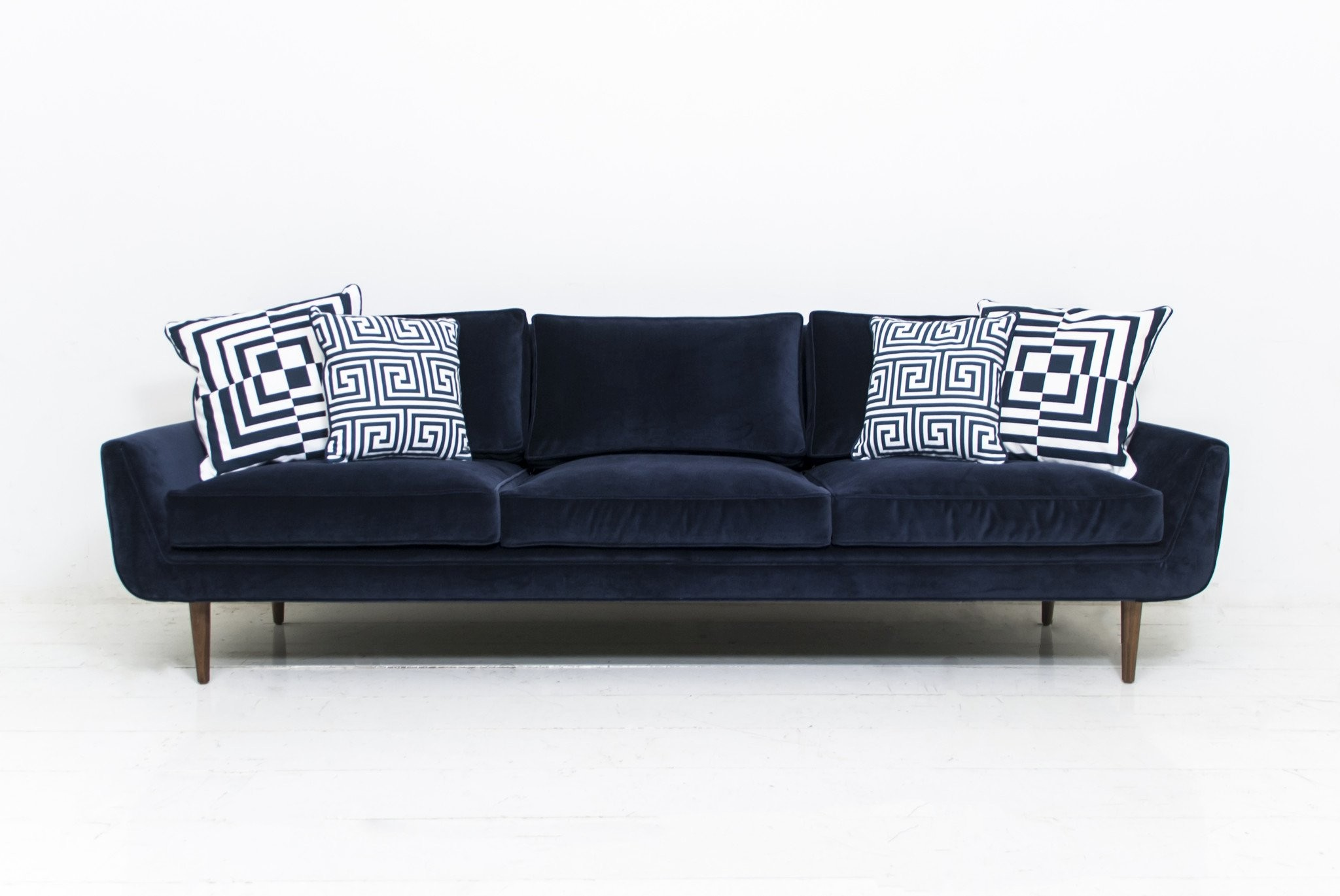 Navy Velvet sofa Wonderful Stockholm sofa In Navy Velvet Modshop Photograph