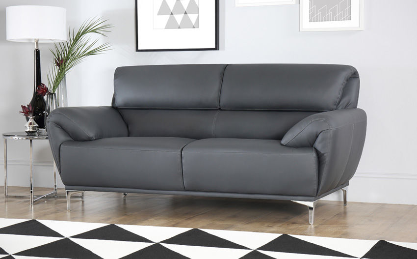 new grey leather sectional sofa online-Best Grey Leather Sectional sofa Collection