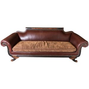 Old Hickory Tannery sofa top Old Hickory Tannery Promenade Duncan Leather and Fabric sofa Pattern