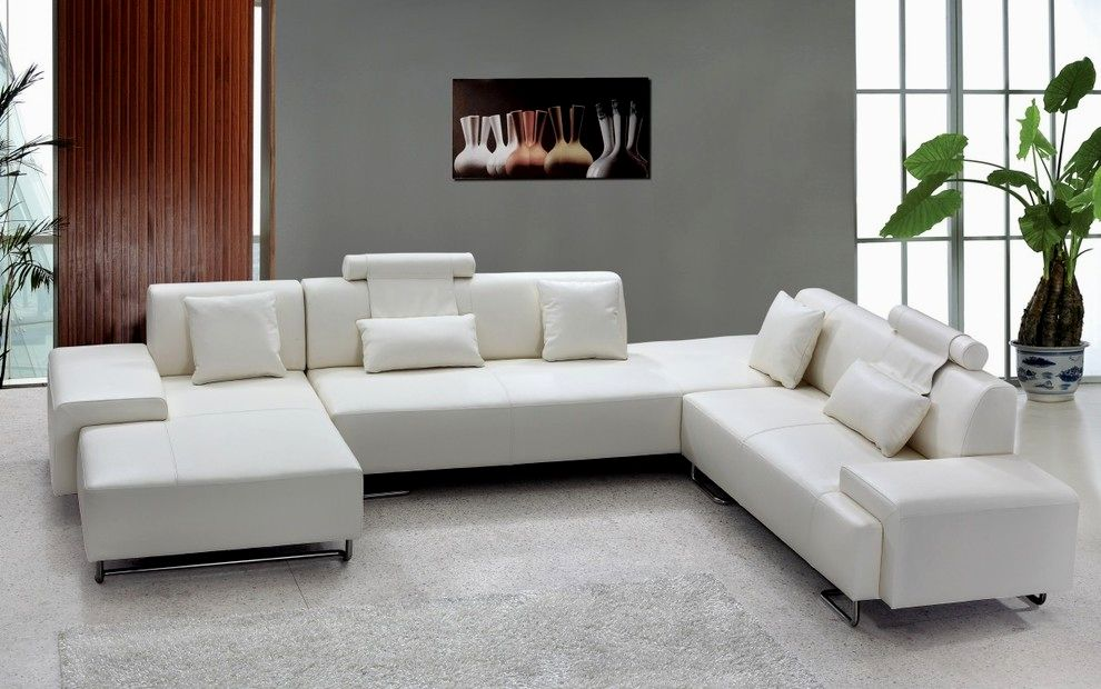 sensational leather white sofa decoration-Elegant Leather White sofa Collection