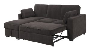Serta sofa Bed Contemporary Chaela Sectional Convertible sofa Dark Grey by Serta Lifestyle Decoration