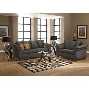 Sofa & Loveseat Set Terrific Adrian sofa and Loveseat Set Graphite Inspiration