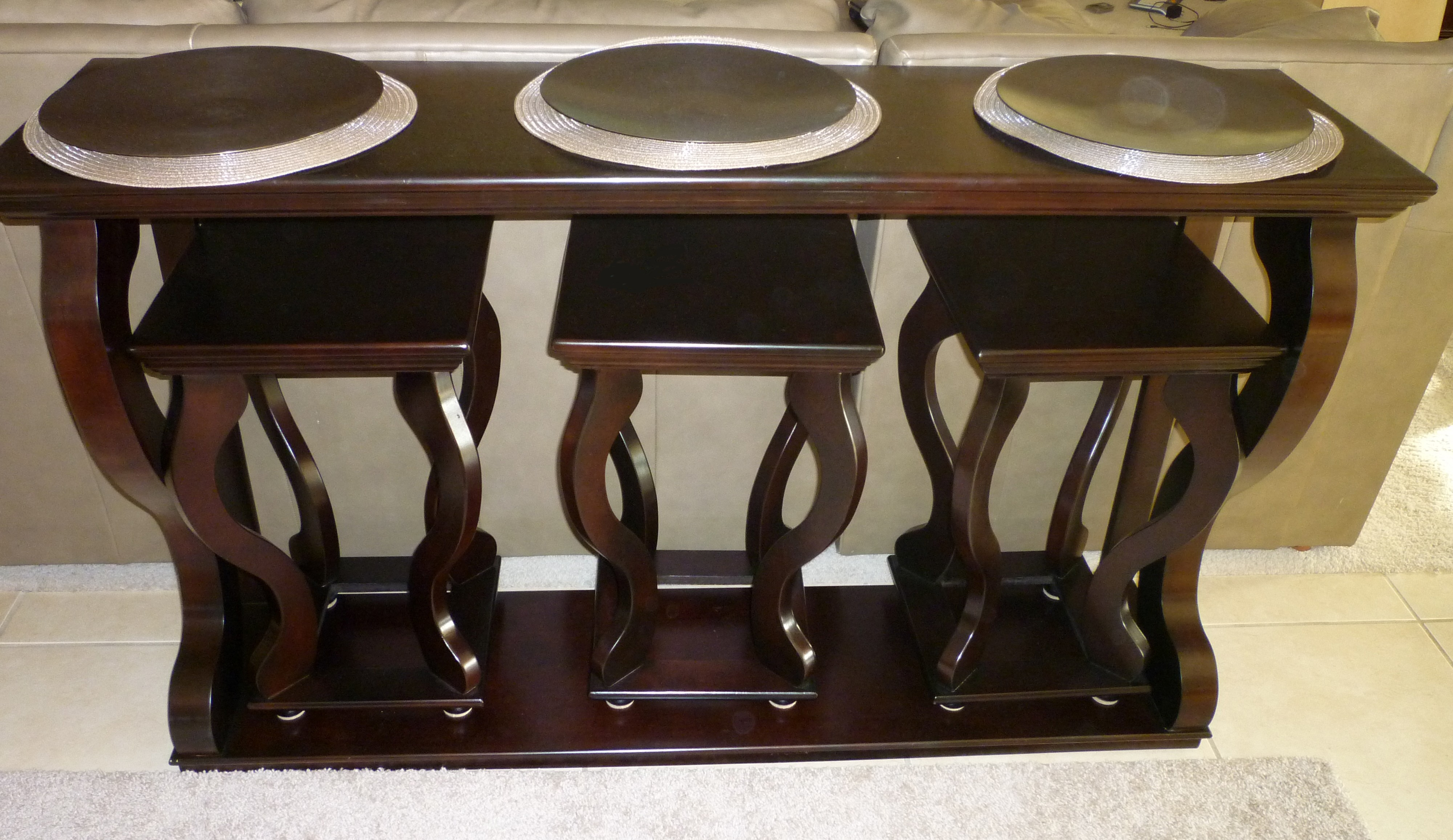 Cute Sofa Table With Stools Online