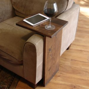 Sofa Tray Table Luxury sofa Chair Arm Rest Tray Table Stand Portrait