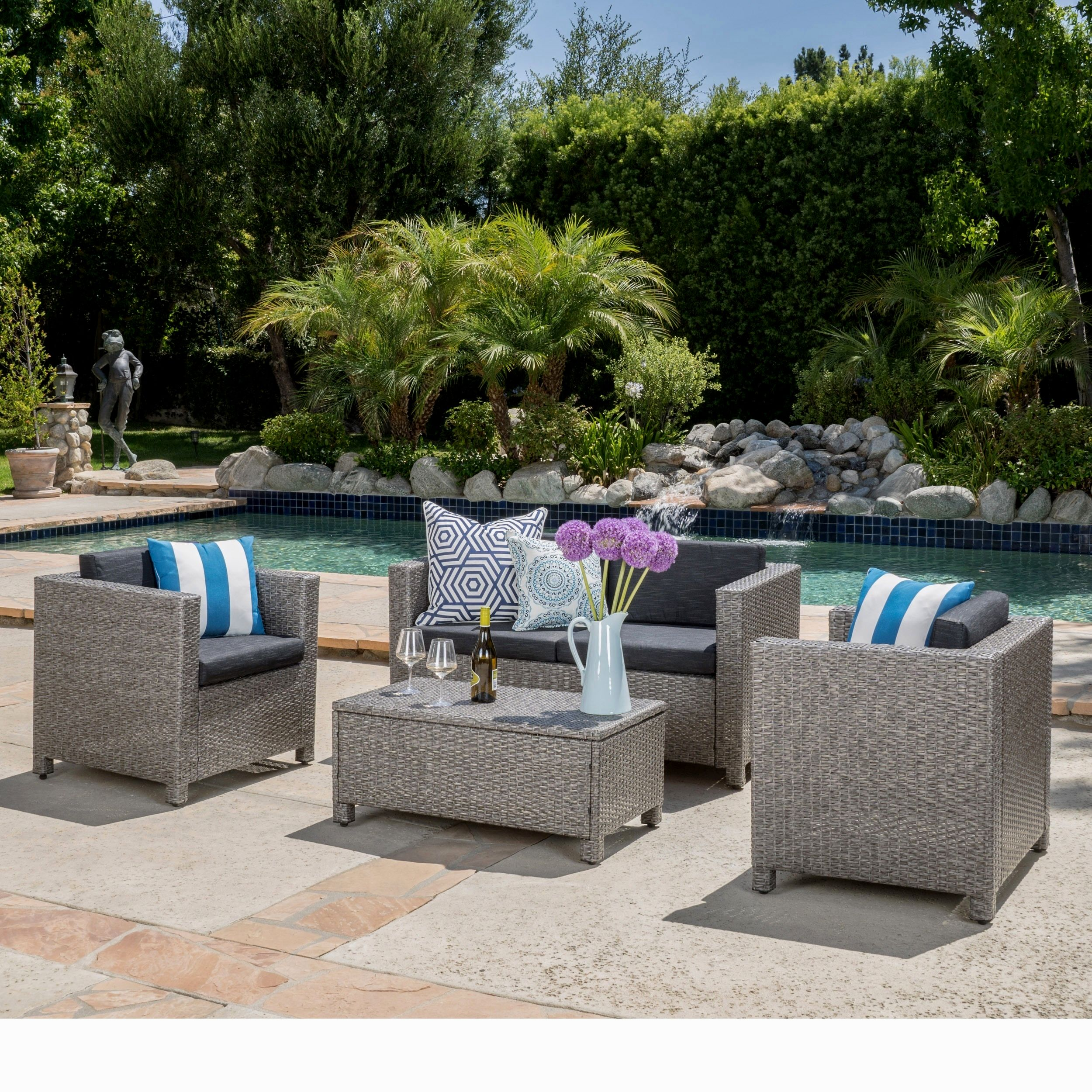stunning christopher knight home puerta grey outdoor wicker sofa set design-Fancy Christopher Knight Home Puerta Grey Outdoor Wicker sofa Set Plan