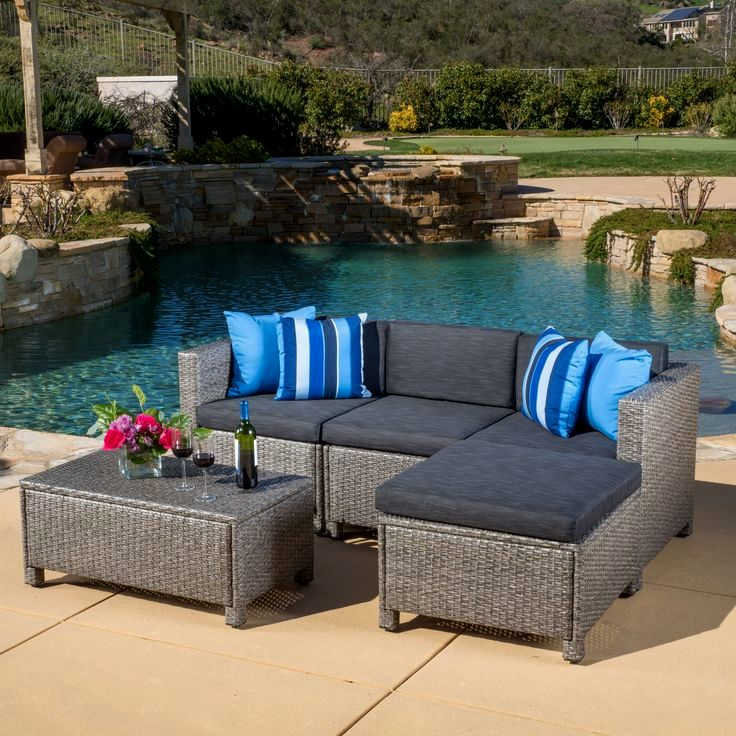 stunning christopher knight home puerta grey outdoor wicker sofa set pattern-Fancy Christopher Knight Home Puerta Grey Outdoor Wicker sofa Set Plan