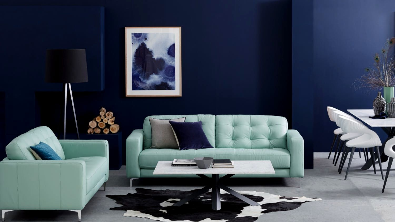 stylish blue sofa set picture-Awesome Blue sofa Set Gallery