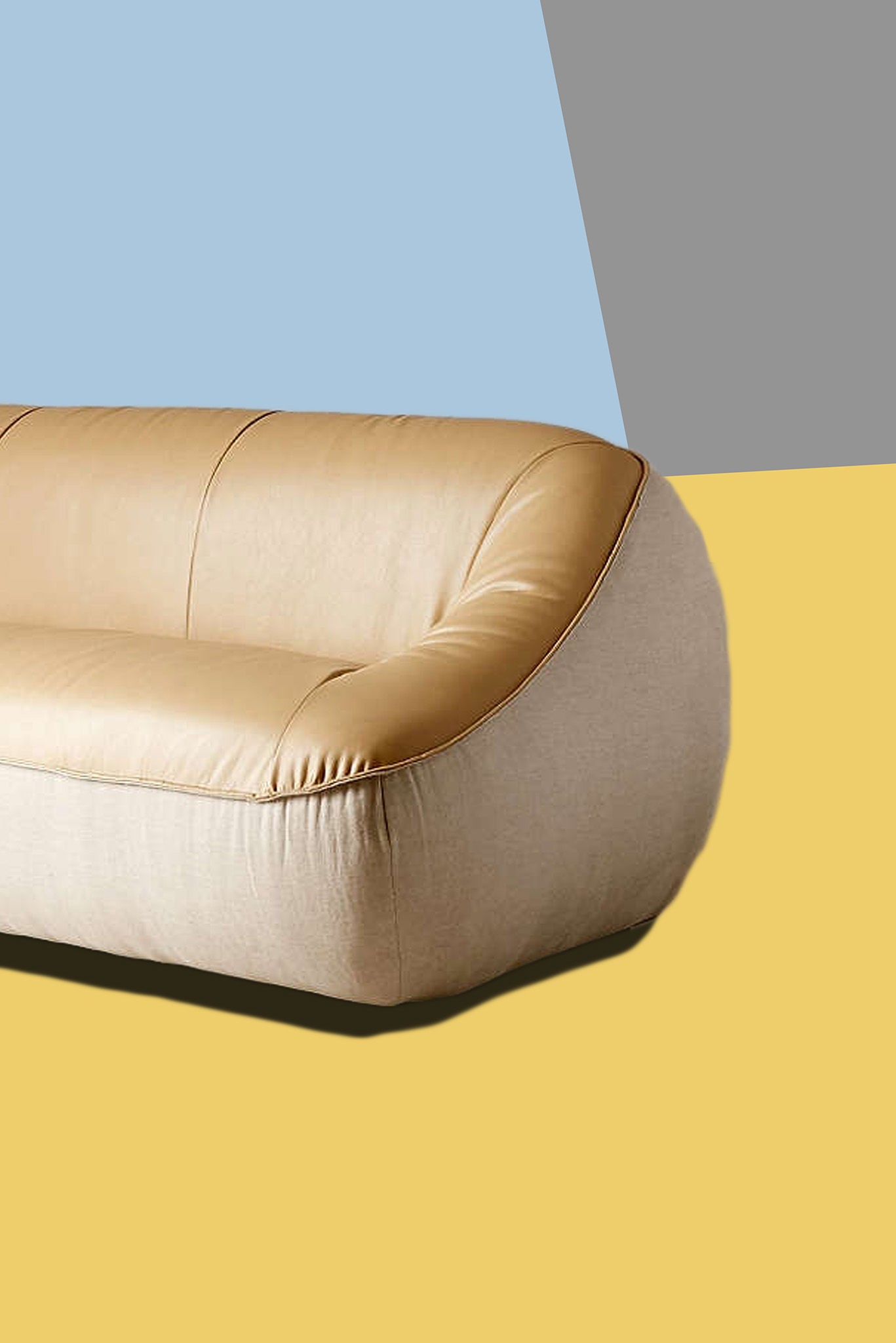 stylish curved leather sofa construction-Incredible Curved Leather sofa Wallpaper