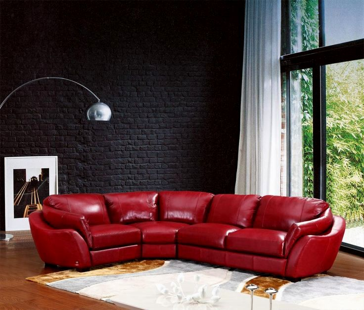 stylish red leather sectional sofa portrait-Fresh Red Leather Sectional sofa Plan