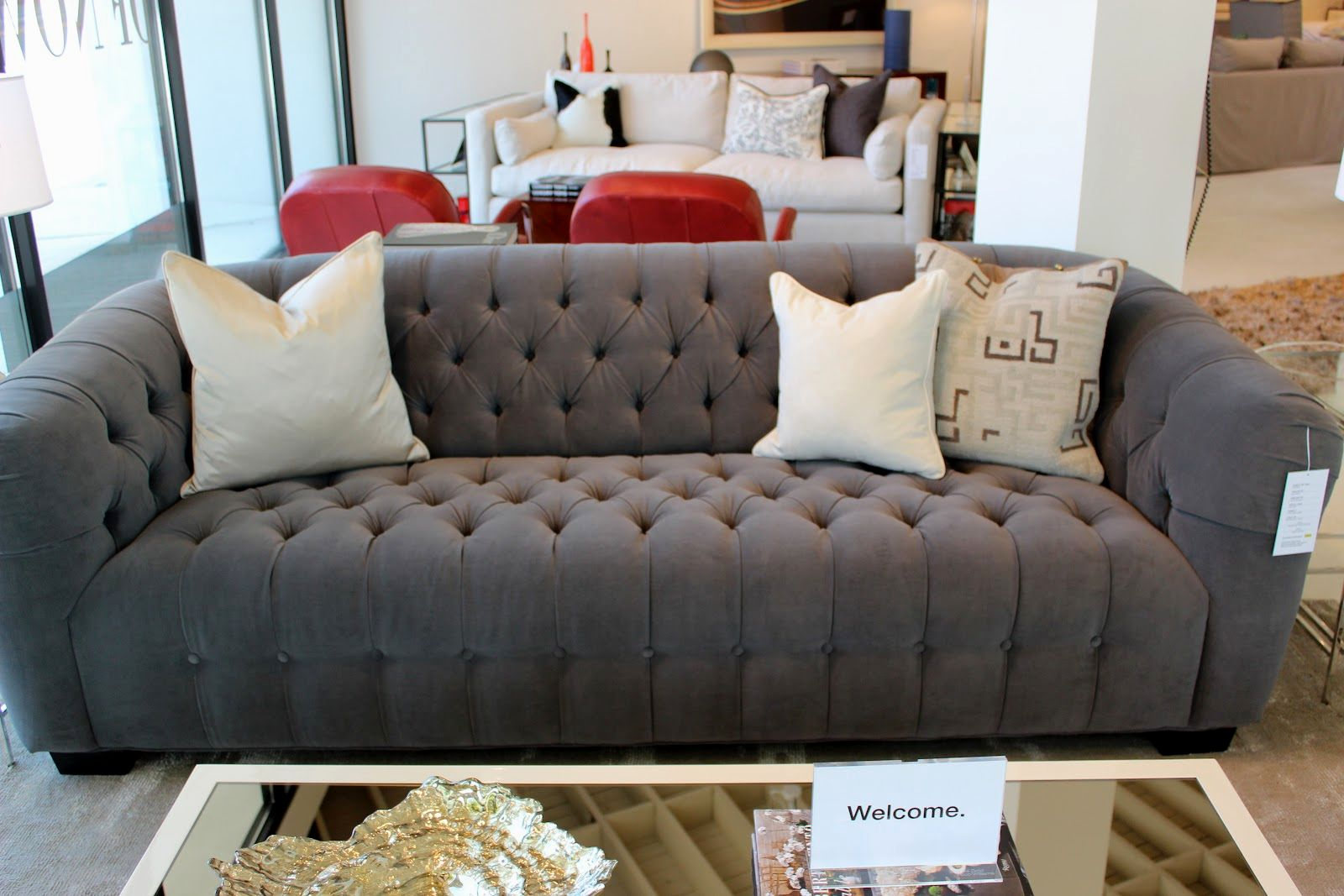 superb gray tufted sofa layout-Stylish Gray Tufted sofa Layout