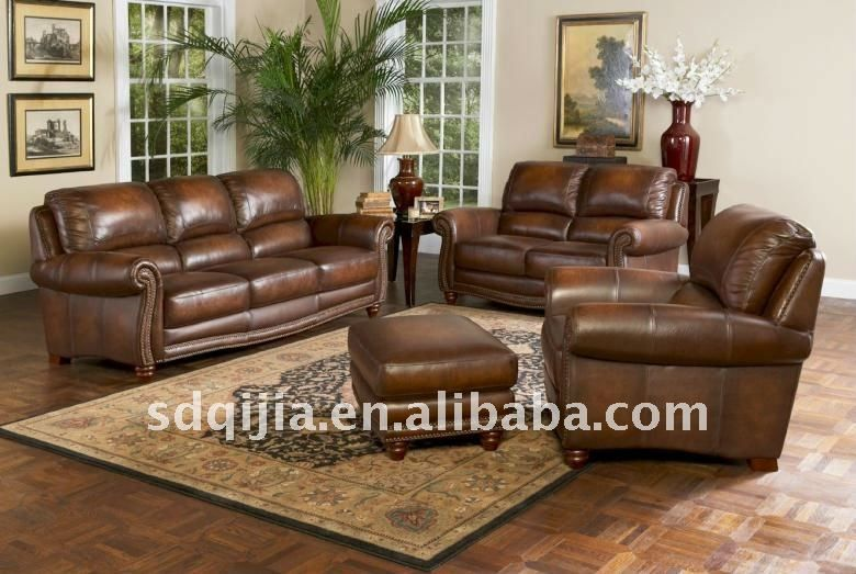 top genuine leather sofa set model-Lovely Genuine Leather sofa Set Image
