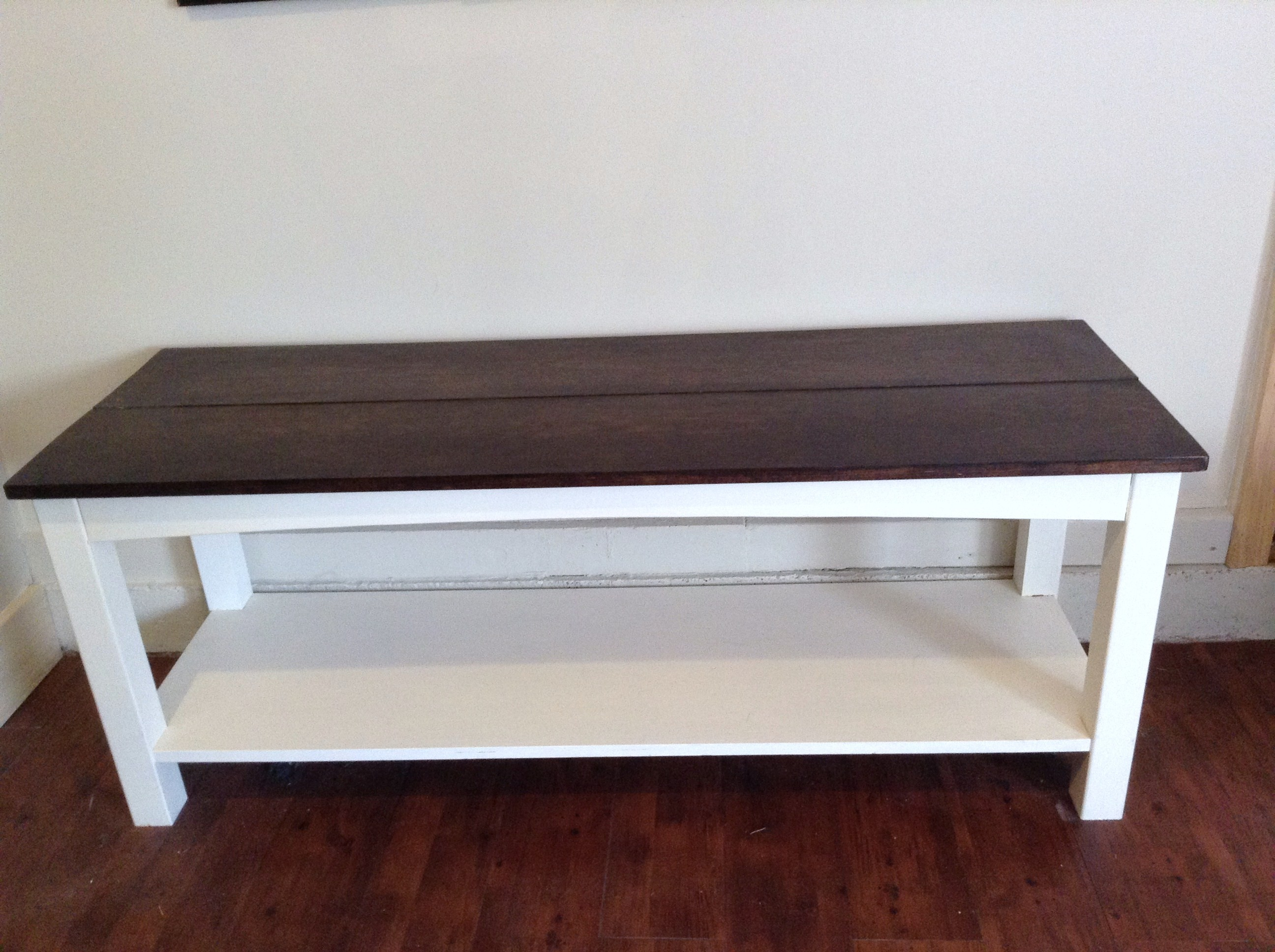 Used sofa Table Cool Transforming An Ugly sofa Table Into A Functional Bench the Decoration