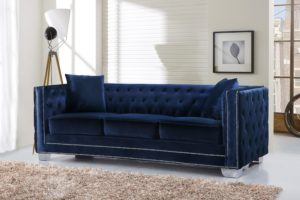 Velvet sofa Set Inspirational Reese Velvet sofa Navy Buy Line at Best Price sohomod Photograph