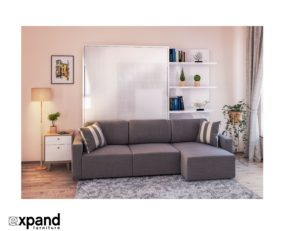 Wall Bed with sofa Fantastic Clean Murphysofa Sectional Wall Bed Photo