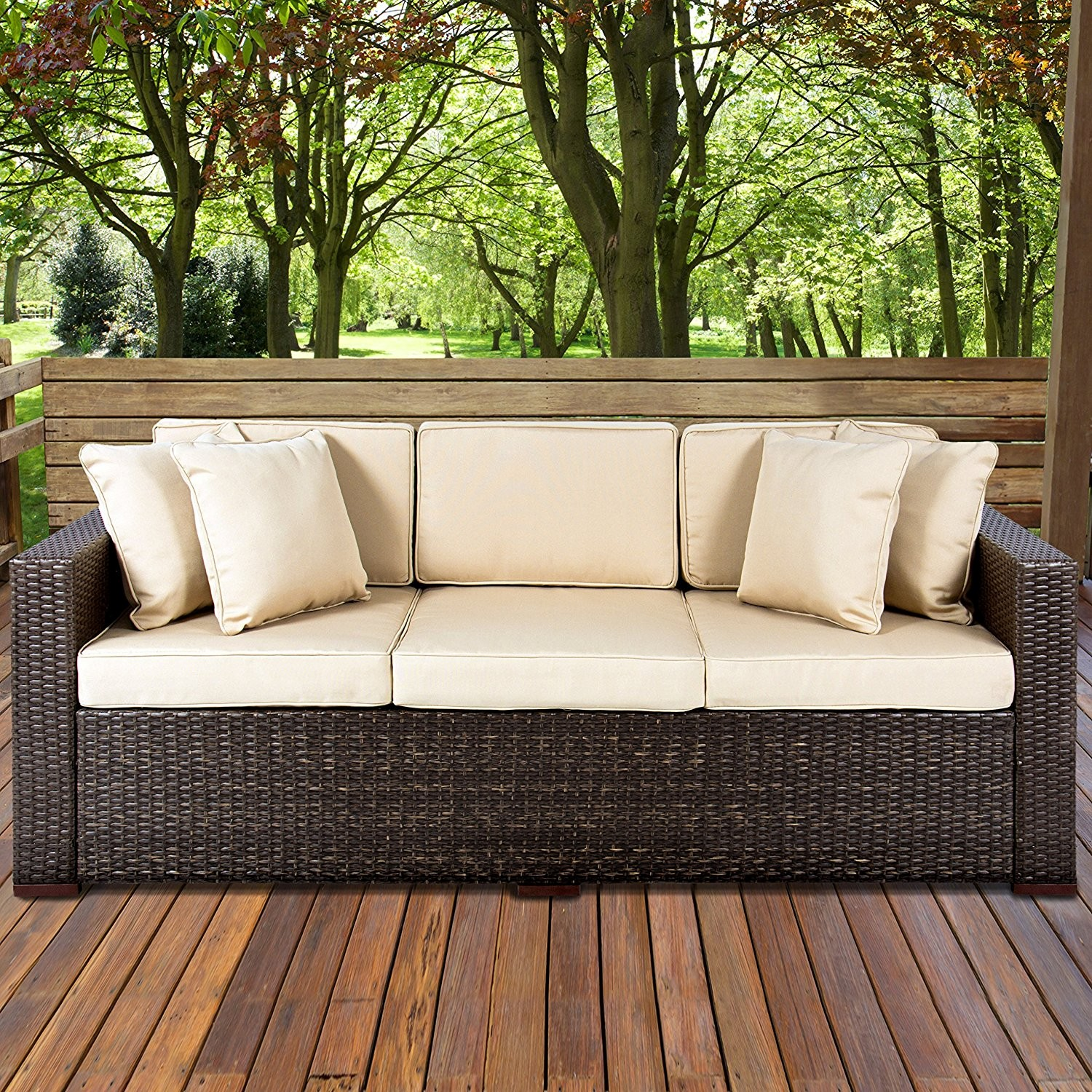 Wicker Outdoor sofa Cool Amazon Best Choiceproducts Outdoor Wicker Patio Furniture Gallery
