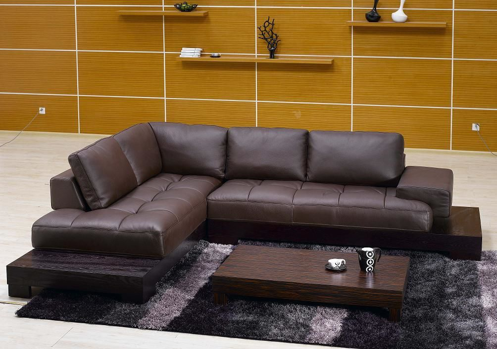 wonderful brown sectional sofas picture-Modern Brown Sectional sofas Wallpaper