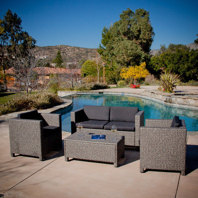 contemporary christopher knight home puerta grey outdoor wicker sofa set photograph-Fancy Christopher Knight Home Puerta Grey Outdoor Wicker sofa Set Plan